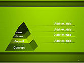 Horizontal Green Background with Lines PowerPoint Template#10