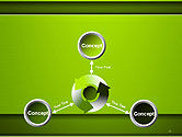 Horizontal Green Background with Lines PowerPoint Template#12