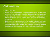 Horizontal Green Background with Lines PowerPoint Template#2