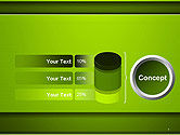 Horizontal Green Background with Lines PowerPoint Template#8