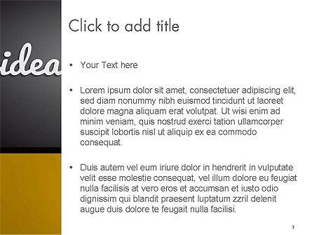 Creative Light Bulb PowerPoint Template, Slide 3, 14580, Education & Training — PoweredTemplate.com