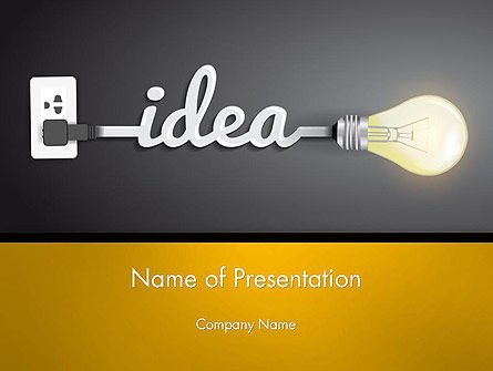 Education & Training: Creative Light Bulb PowerPoint Template #14580