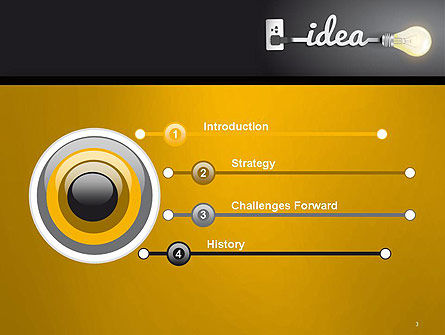 Creative Light Bulb PowerPoint Template Slide 3