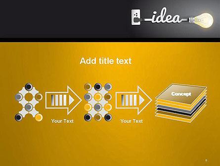 Creative Light Bulb PowerPoint Template Slide 9