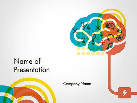 Creative Brain Idea PowerPoint Template, 14582, Education & Training — PoweredTemplate.com