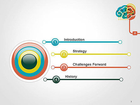Creative Brain Idea PowerPoint Template, Slide 3, 14582, Education & Training — PoweredTemplate.com