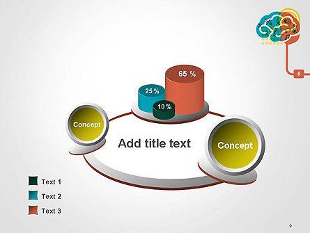 Creative Brain Idea PowerPoint Template Slide 6