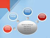 Paper Speech Bubble Background PowerPoint Template#7