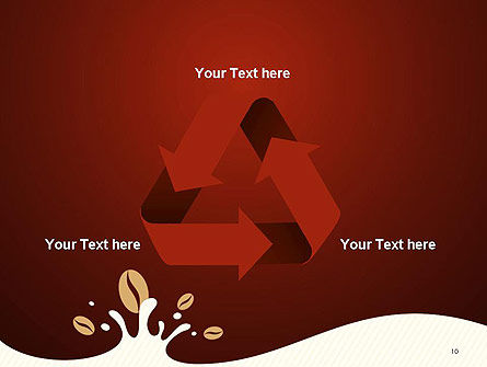 Espresso Flavored Abstract Background PowerPoint Template Slide 10