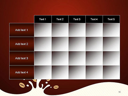 Espresso Flavored Abstract Background PowerPoint Template Slide 15