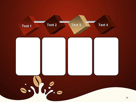 Espresso Flavored Abstract Background PowerPoint Template Slide 18