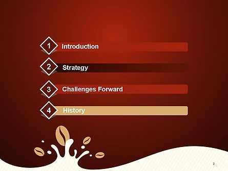 Espresso Flavored Abstract Background PowerPoint Template Slide 3