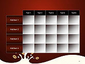 Espresso Flavored Abstract Background PowerPoint Template#15
