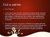 Espresso Flavored Abstract Background PowerPoint Template#2