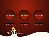 Espresso Flavored Abstract Background PowerPoint Template#5