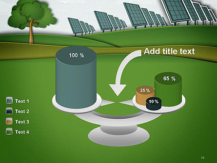 Solar Panels Batteries on Clean Field PowerPoint Template Slide 10