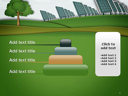 Solar Panels Batteries on Clean Field PowerPoint Template Slide 8