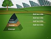 Solar Panels Batteries on Clean Field PowerPoint Template#12