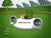 Solar Panels Batteries on Clean Field PowerPoint Template#16