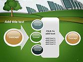Solar Panels Batteries on Clean Field PowerPoint Template#17