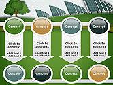 Solar Panels Batteries on Clean Field PowerPoint Template#18
