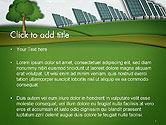 Solar Panels Batteries on Clean Field PowerPoint Template#2