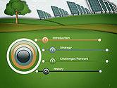 Solar Panels Batteries on Clean Field PowerPoint Template#3