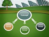 Solar Panels Batteries on Clean Field PowerPoint Template#4