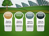 Solar Panels Batteries on Clean Field PowerPoint Template#5