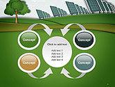 Solar Panels Batteries on Clean Field PowerPoint Template#6