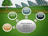 Solar Panels Batteries on Clean Field PowerPoint Template#7