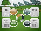 Solar Panels Batteries on Clean Field PowerPoint Template#9