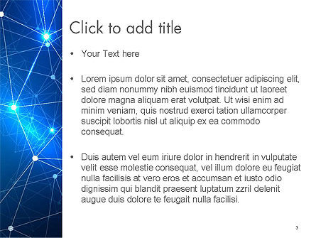 Connected Dots PowerPoint Template, Slide 3, 14587, Abstract/Textures — PoweredTemplate.com