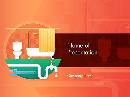 Careers/Industry: Home Plumbing Services PowerPoint Template #14588