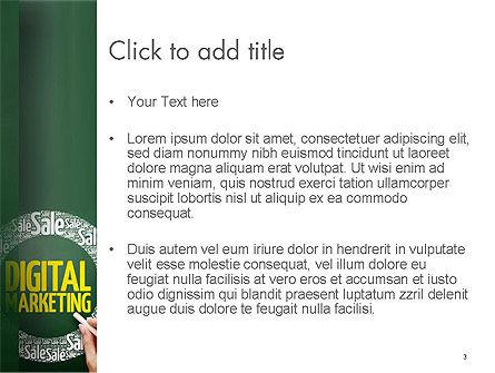 Digital Marketing Word Cloud PowerPoint Template, Slide 3, 14590, Careers/Industry — PoweredTemplate.com