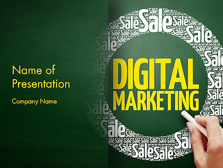 Digital Marketing Word Cloud PowerPoint Template