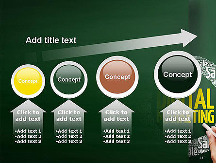 Digital Marketing Word Cloud PowerPoint Template Slide 13