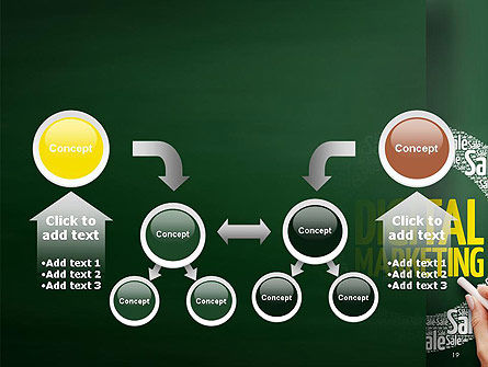 Digital Marketing Word Cloud PowerPoint Template Slide 19