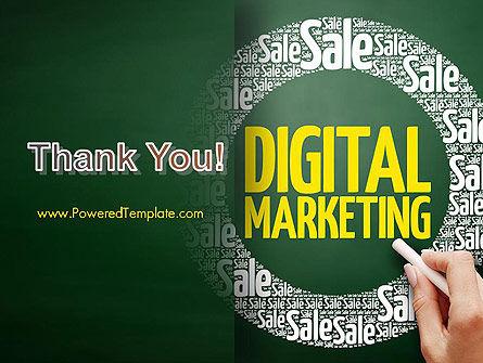 Digital Marketing Word Cloud PowerPoint Template Slide 20