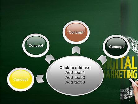 Digital Marketing Word Cloud PowerPoint Template Slide 7