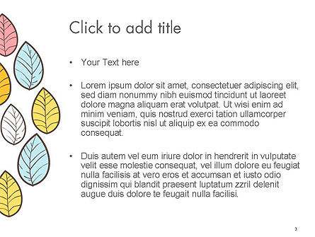 Leaf Background PowerPoint Template, Slide 3, 14591, Art & Entertainment — PoweredTemplate.com