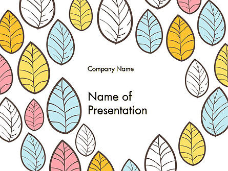 Art & Entertainment: Leaf Background PowerPoint Template #14591