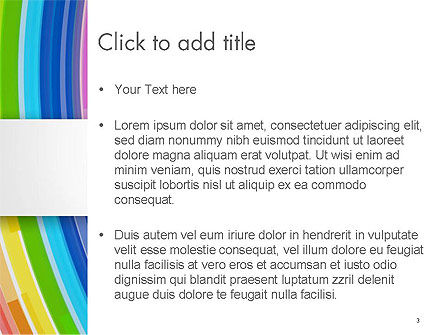 Bright Abstract Rainbow Swoosh Lines PowerPoint Template, Slide 3, 14592, Abstract/Textures — PoweredTemplate.com