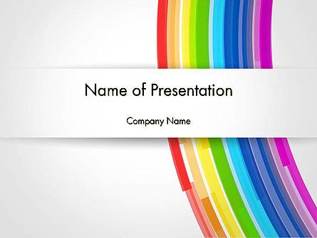 Abstract/Textures: Bright Abstract Rainbow Swoosh Lines PowerPoint Template #14592