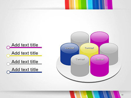 Bright Abstract Rainbow Swoosh Lines PowerPoint Template Slide 12