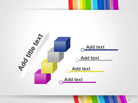 Bright Abstract Rainbow Swoosh Lines PowerPoint Template Slide 14