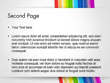 Bright Abstract Rainbow Swoosh Lines PowerPoint Template Slide 2