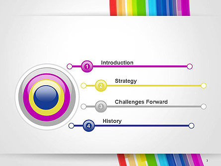 Bright Abstract Rainbow Swoosh Lines PowerPoint Template Slide 3