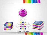 Bright Abstract Rainbow Swoosh Lines PowerPoint Template#19