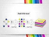 Bright Abstract Rainbow Swoosh Lines PowerPoint Template#9